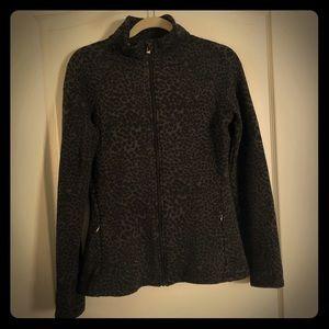 Lucy leopard print athletic jacket - Size M - EUC